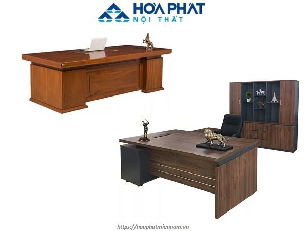 Bàn gỗ công nghiệp văn phòng mang tính đồng bộ cao