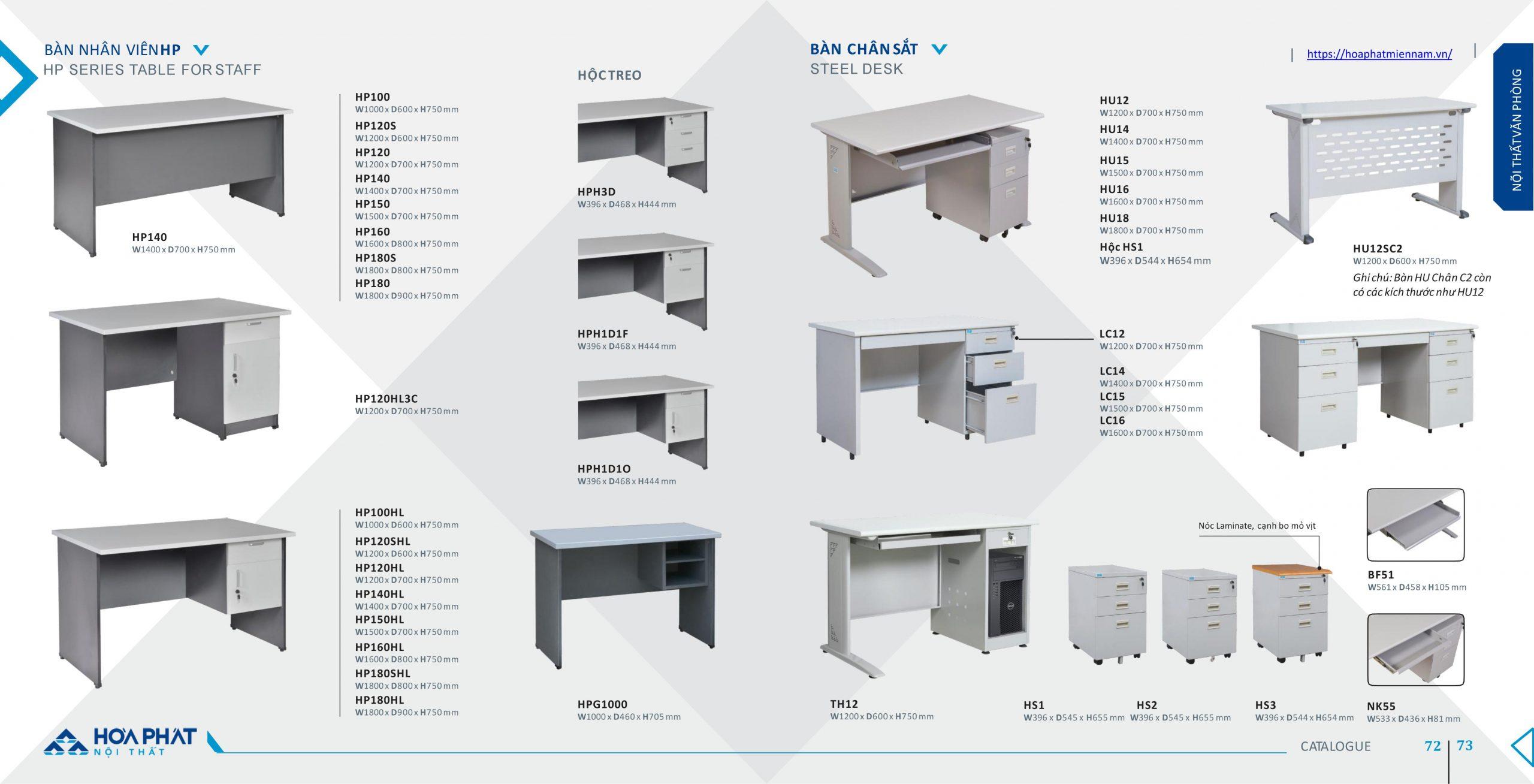catalogue bàn Hòa Phát 20