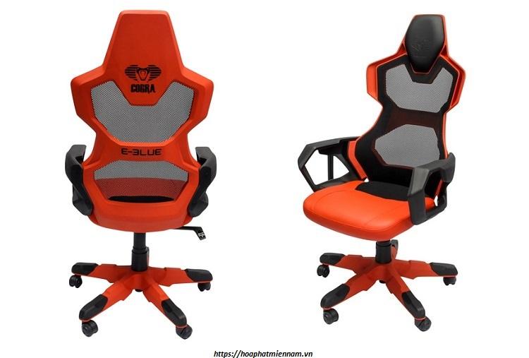 Thiết kế dạng lưới của ghế gaming giúp tạo độ thông thoáng