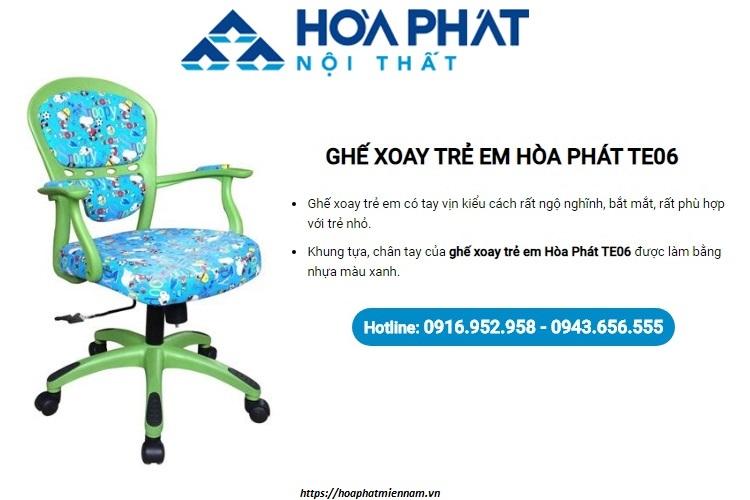Mẫu ghế xoay có tay vịn Hòa Phát TE06