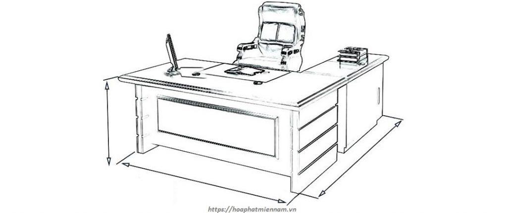 kích thước bàn làm việc theo phong thủy