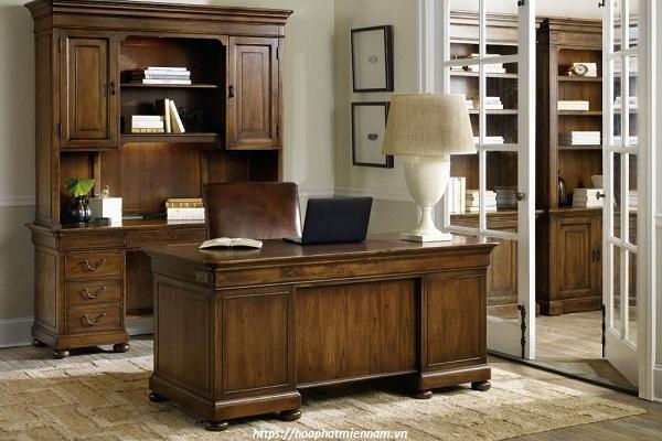 Thiết kế bàn làm việc phong cách cỗ điển đẹp mắt