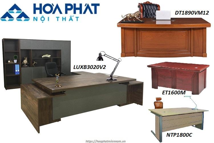 Mẫu bàn gỗ công nghiệp cho văn phòng lãnh đạo