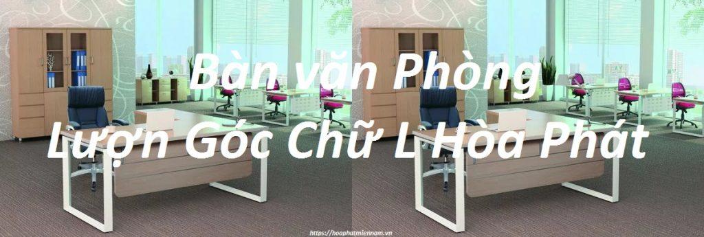 Bàn văn phòng lượn góc chữ L Hòa Phát