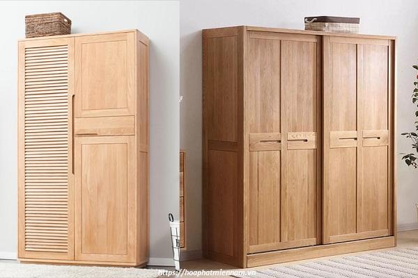 Tủ quần áo làm từ gỗ cao su