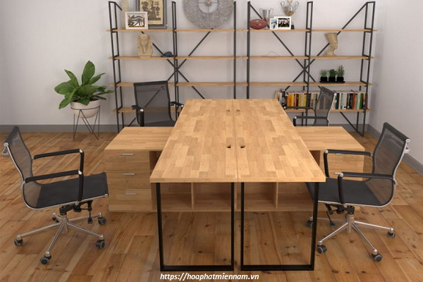 Một số thiết kế nội thất văn phòng với gỗ cao su