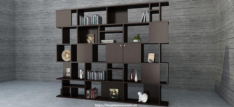 kệ gỗ trang trí phòng khách