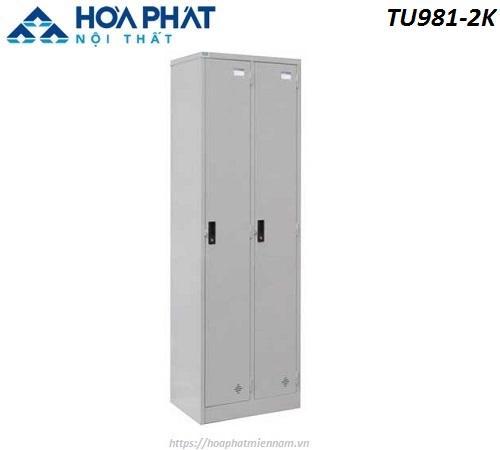 Tủ sắt đứng locker 2 ngăn TU981-2K