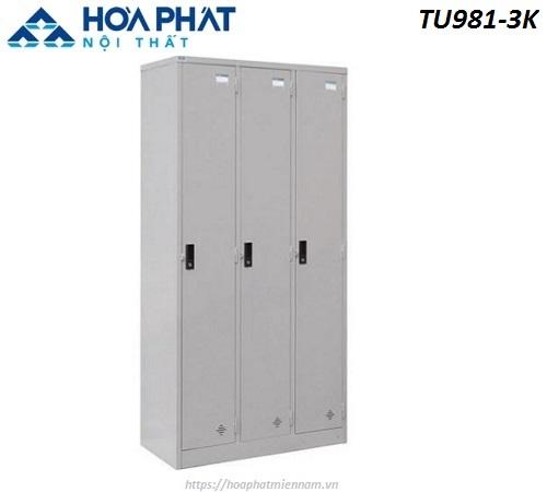 Tủ sắt đứng locker 3 ngăn TU981-3K