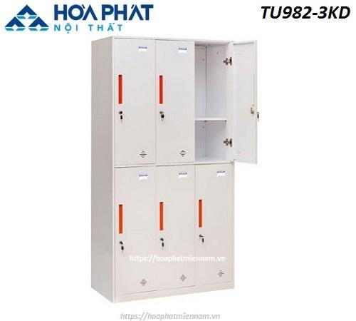 Tủ sắt Locker Hòa Phát 6 ngăn TU982-3KD