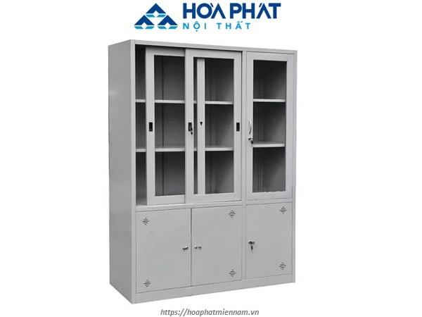 Thiết kế tủ sắt cửa lùa kích cỡ lớn cho văn phòng tiện nghi TU09K7GCK