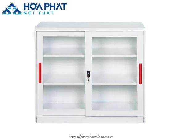 Tủ cửa lùa 2 ngăn bằng sắt TU118GD dành cho văn phòng hiện đại