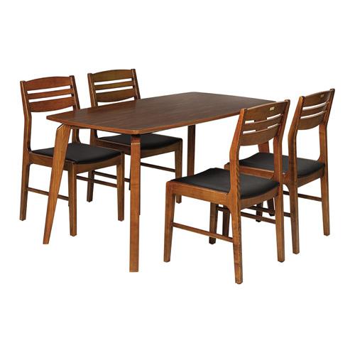 Bộ bàn ăn 4 ghế BA505BK8 - GA505 (có kính)