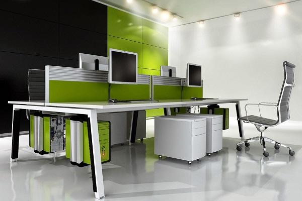 Lựa chọn tông màu sáng khiến văn phòng trở nên hiện đại