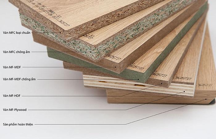 Một số cốt gỗ công nghiệp sản xuất bàn hiện nay