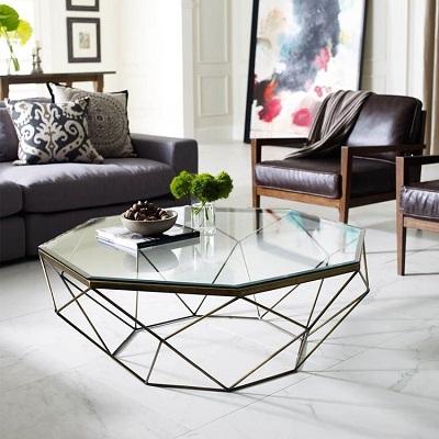 Mẫu bàn trà hình học đẹp mắt