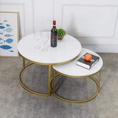 Cụm bàn trà sofa phong cách cao thấp