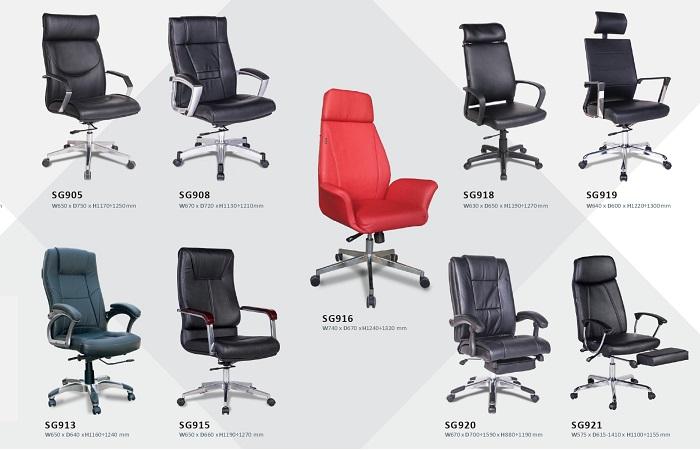 Ghế da Hòa Phát đa dạng về chủng loại và thiết kế