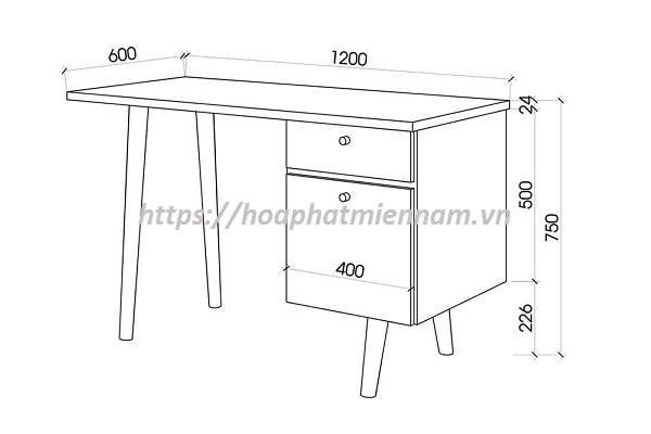Kích thước bàn làm việc nhân viên văn phòng