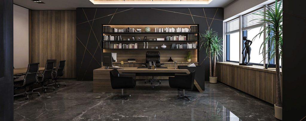 thiết kế nội thất phòng làm việc giám đốc