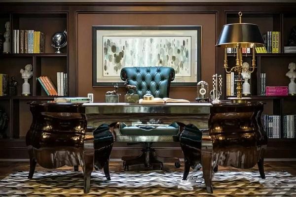 Thiết kế nội thất văn phòng lãnh đạo phong cách tân cổ điển 7