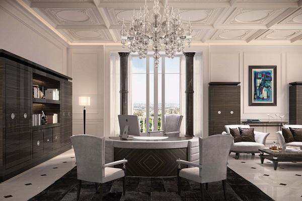 Thiết kế nội thất văn phòng lãnh đạo phong cách tân cổ điển 8