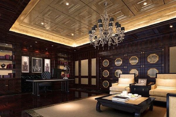 Thiết kế nội thất văn phòng lãnh đạo phong cách tân cổ điển 5