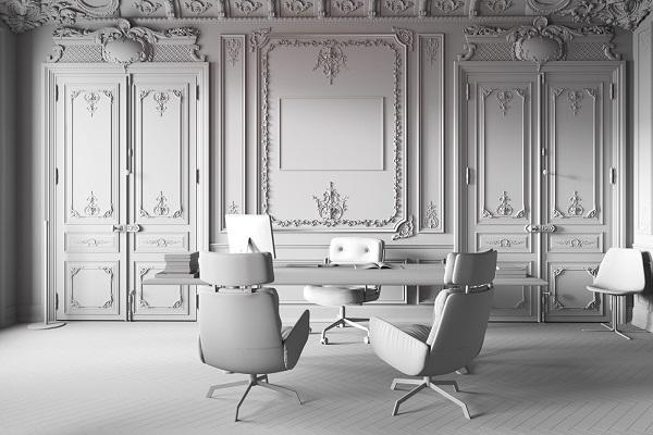 Thiết kế nội thất văn phòng lãnh đạo phong cách tân cổ điển 3