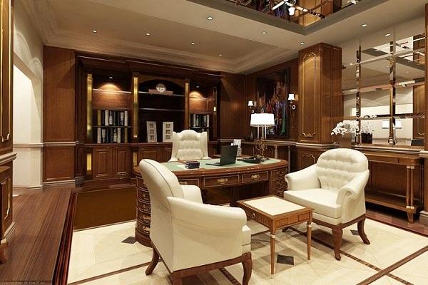 Thiết kế nội thất văn phòng lãnh đạo phong cách tân cổ điển 1