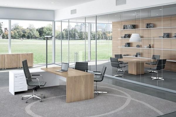 Thiết kế nội thất phòng làm việc giám đốc với vị trí phù hợp