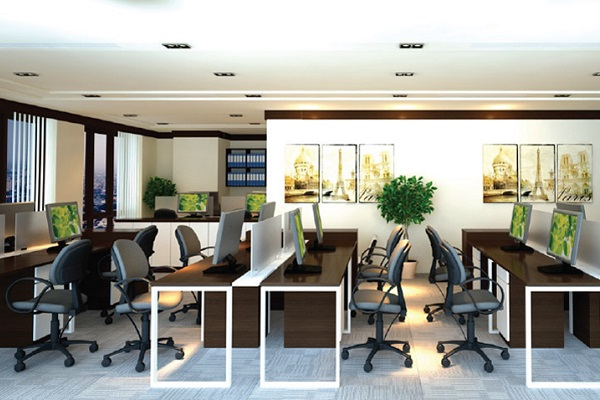 Vách ngăn Hòa Phát đa dạng về thiết kế, mang tính thẩm mỹ cao cho văn phòng làm việc chuyên nghiệp