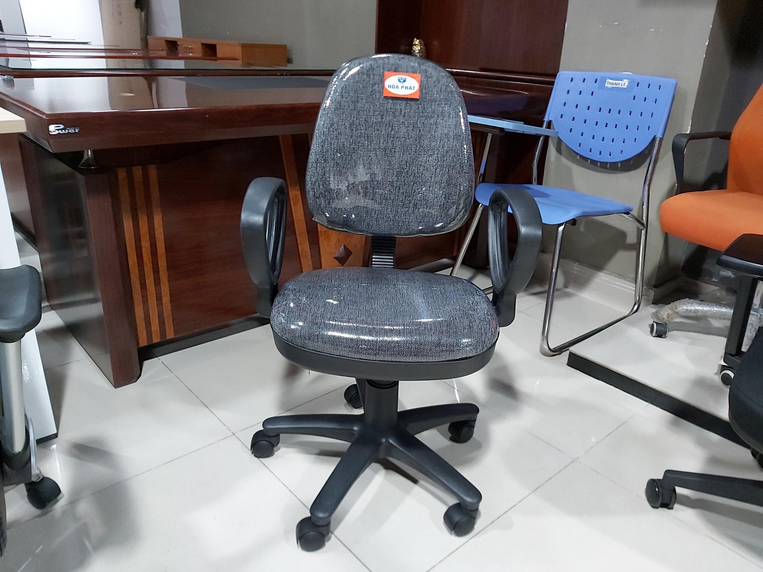 Hình ảnh thực tế ghế Hòa Phát SG550 tại Nội Thất Hòa Phát 55 Bạch Đằng màu muối tiêu