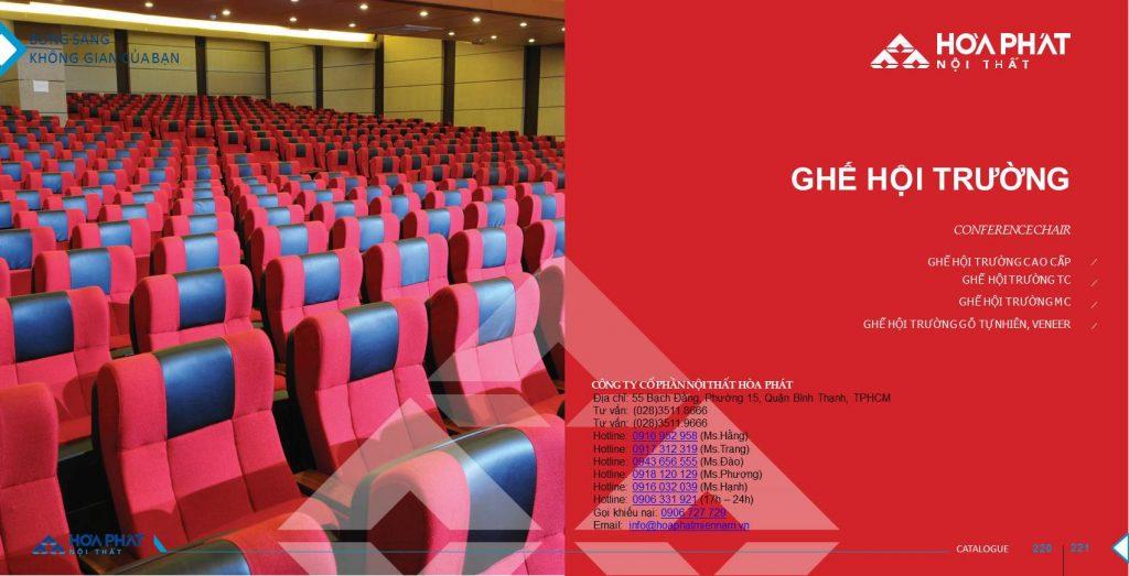 Catalogue ghế hội trường Hòa Phát 2020