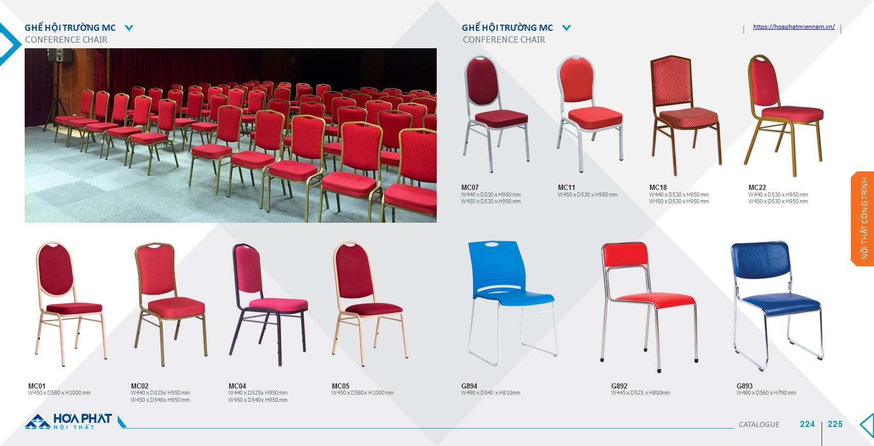 Catalogue ghế hội trường Hòa Phát