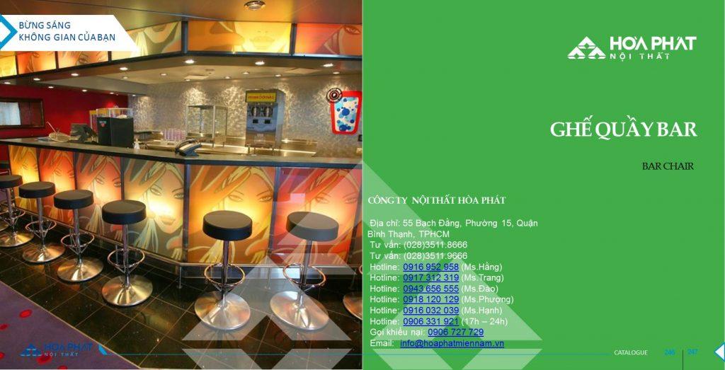 Catalogue ghế quầy Bar Hòa Phát 2020