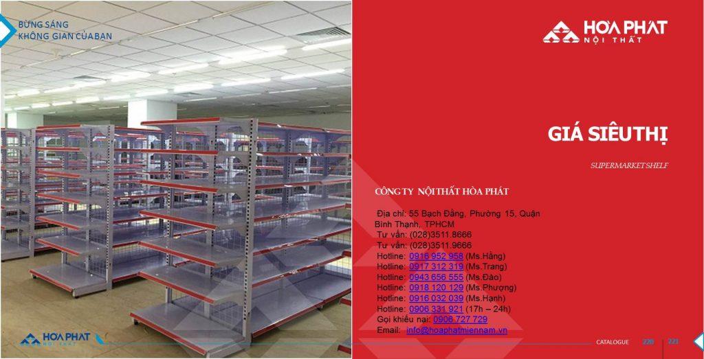 Catalogue kệ siêu thị Hòa Phát 2020