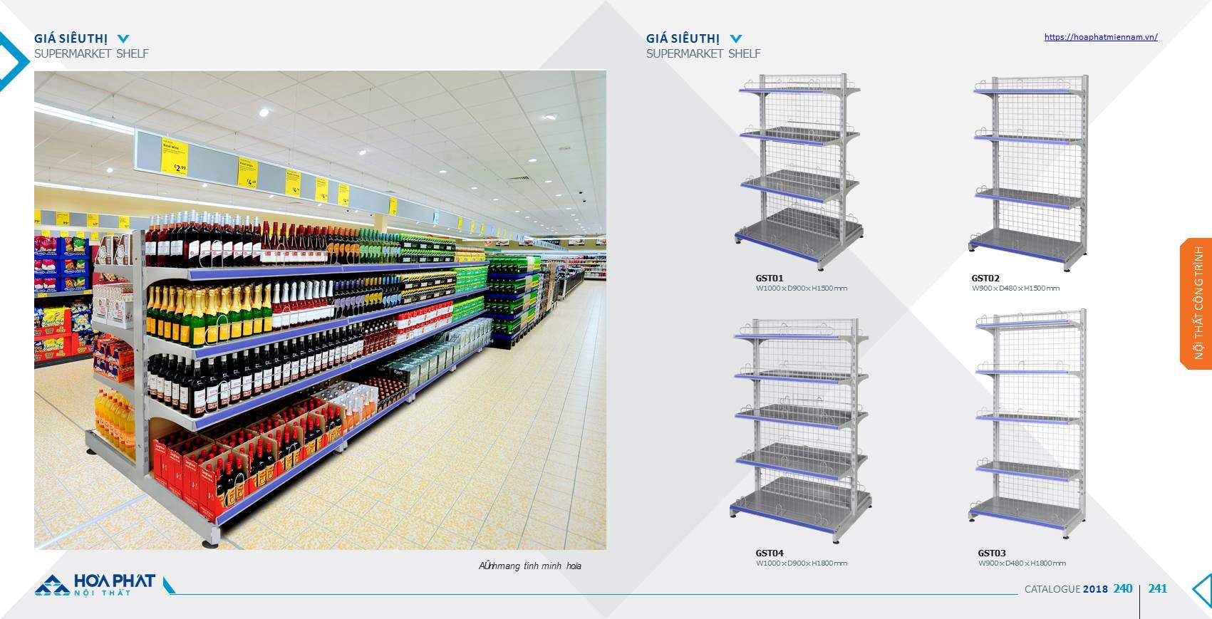 Catalogue kệ siêu thị Hòa Phát