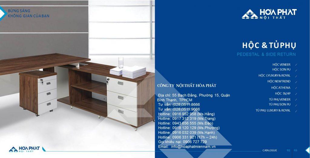 Catalogue hộc tủ phụ Hòa Phát 2020