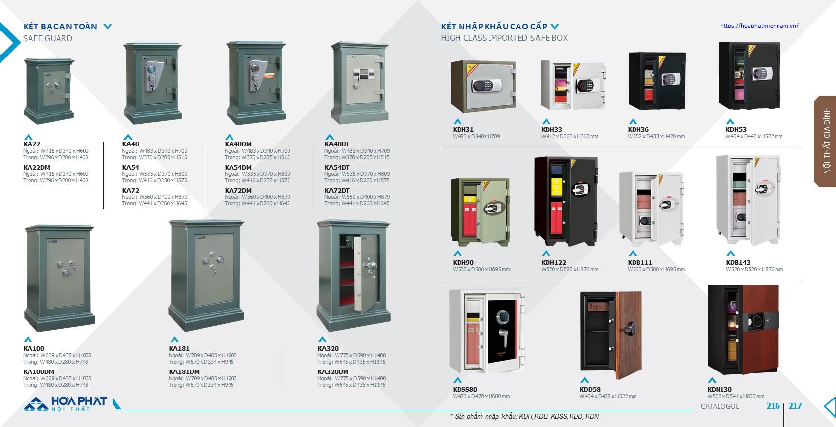 Catalogue két sắt Hòa Phát