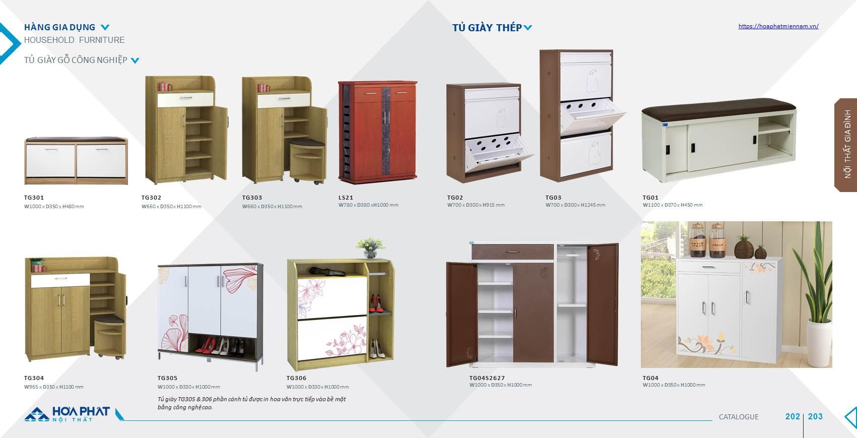 catalogue tủ giày Hòa Phát