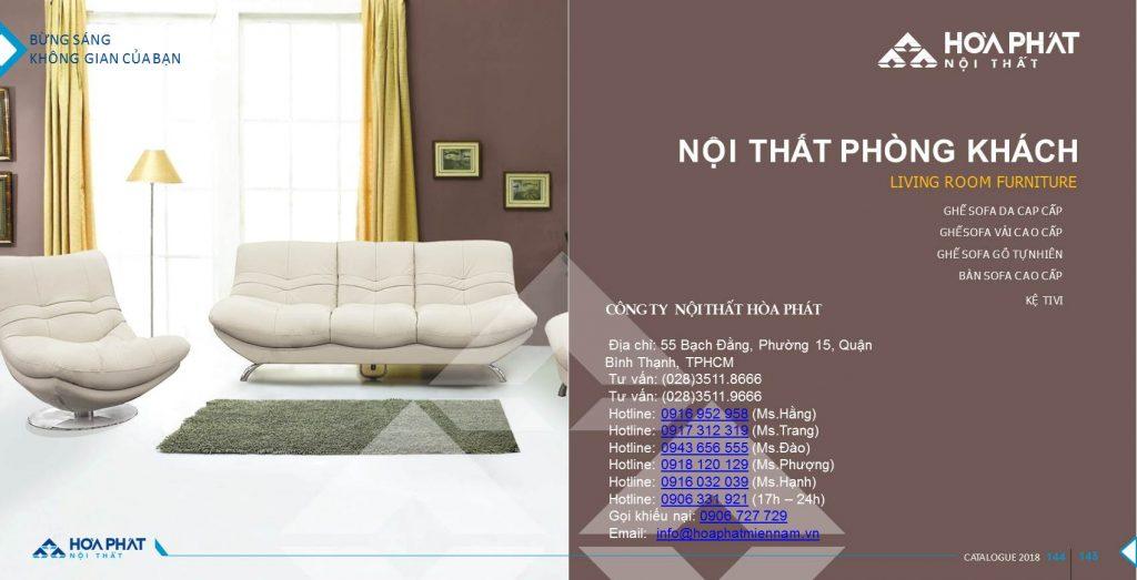 Catalogue bàn ghế phòng khách Hòa Phát 2020