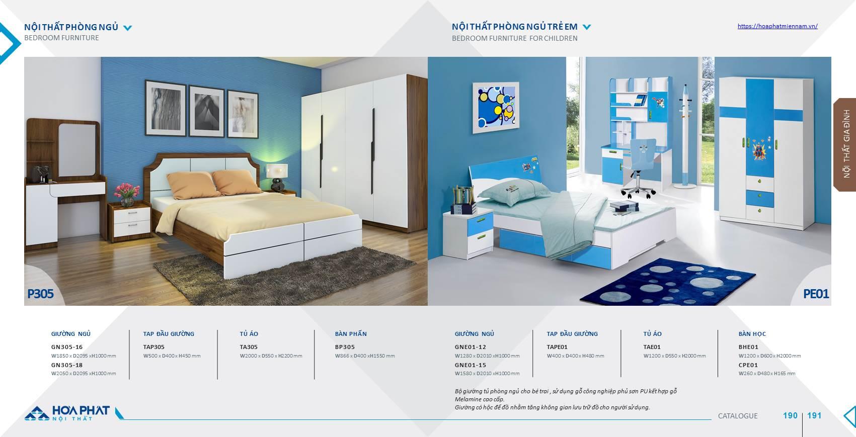 Catalogue giường ngủ Hòa Phát