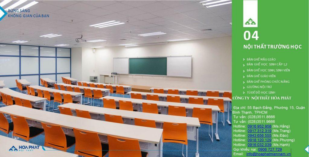 Catalogue bàn ghế học sinh Hòa Phát 2020