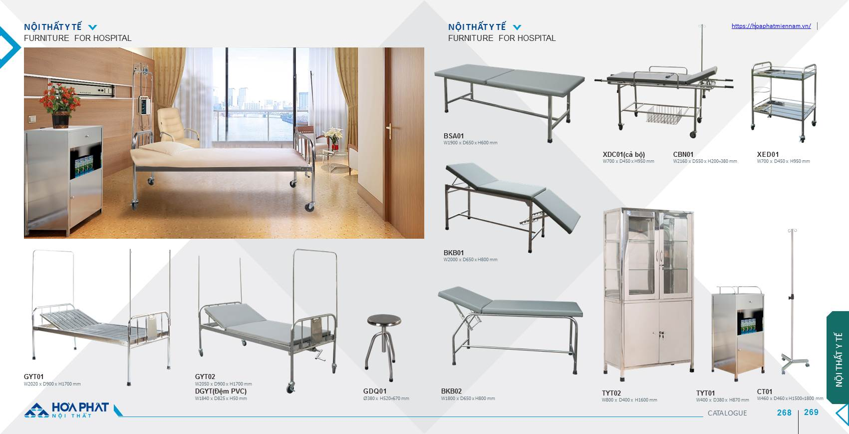 Catalogue nội thất Y tế Hòa Phát