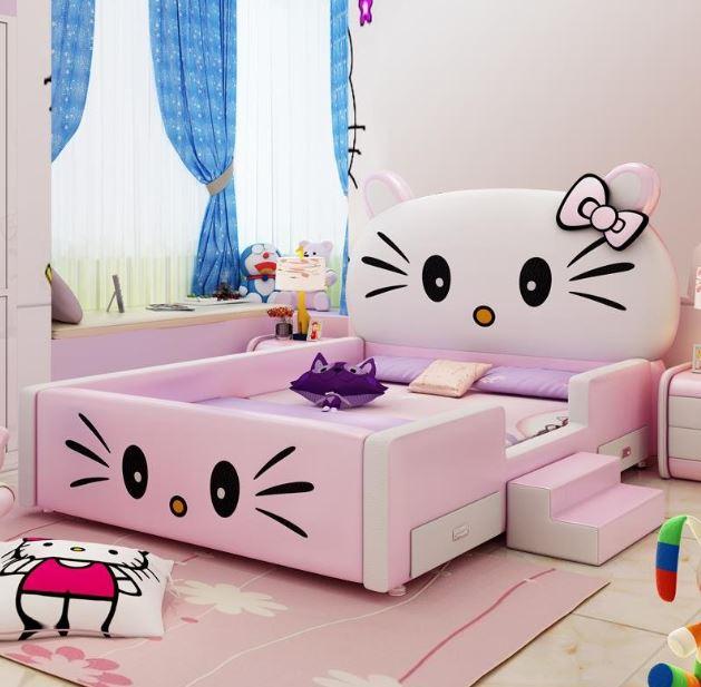 giường ngủ trẻ em hello kitty