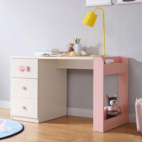 Bàn có ngăn kéo dành cho trẻ tiểu học với thiết kế hồng nhẹ nhàng