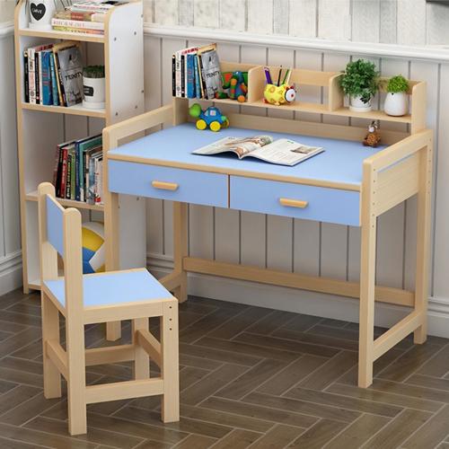Mẫu bàn ngăn kéo màu xanh dành cho bé trai