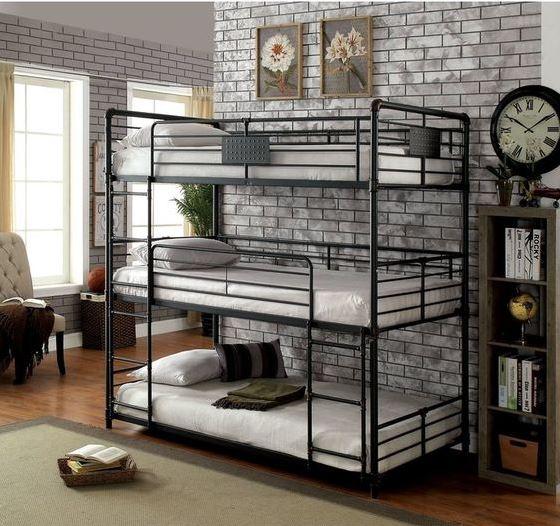 giường 3 tầng kiểu xếp chồng
