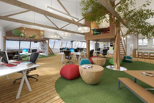 Hình ảnh không gian văn phòng hiện đại 4