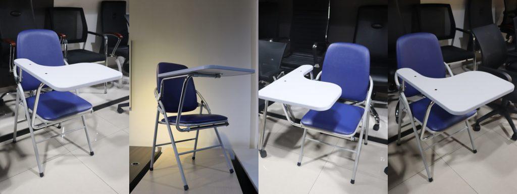 Hình ảnh thực tế ghế gấp liền bàn G04B